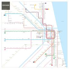 Map Metro Chicago by Chicago Subway Map Inat Maps