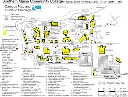 Portland Maine Map by Campus Map Smcc H Burpee