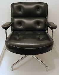 Black Leather Chairs For Sale Eames Black Leather Lobby Chair By Vitra And Miller For Sale At