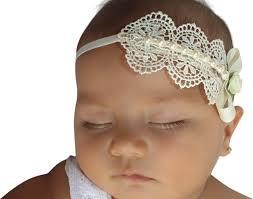 newborn headbands baptism headpiece ivory headband lace headband baby headband