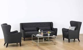 Black And Grey Sofa Set Buy Houston Dark Grey Sofa Set Online Furnspace