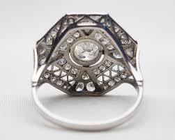 octagonal diamond filigree ring art deco filigree diamond ring