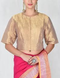 metallic gold blouse buy gold metallic blouse by anavila available at ogaan shop