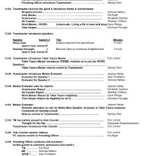 agenda template doc 5 day schedule word invitation company