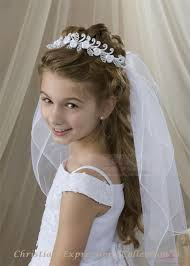 communion wreath veil satin roses and pearls holy