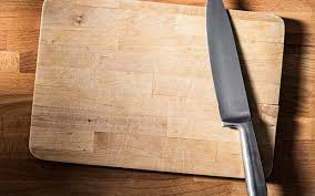 the point of a kitchen knife