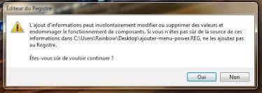 bureau windows 7 sur windows 8 1 ajouter le power menu au menu contextuel du bureau sous windows 8