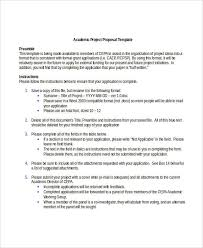 academic proposal templates 7 free word pdf format download