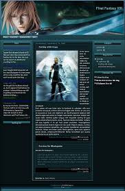 final fantasy xiii blogger template game blogger template
