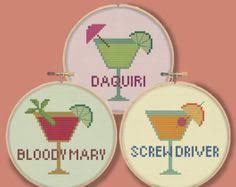 tropical cocktails mini drink ornaments coasters modern