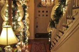 Banister Garland Ideas Classy Stunning Christmas Staircase Decorating Ideas For Inspire