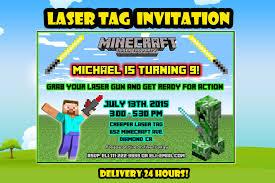 minecraft laser tag invitation minecraft by decorationsleon on zibbet