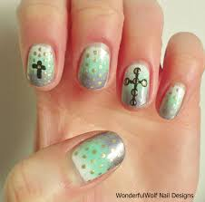 12 nail designs cross cross nail design my nails pinterest biz