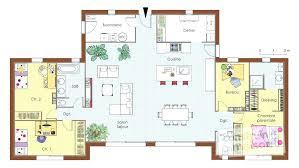 plan maison plain pied en l 4 chambres plan de maison de plain pied plan maison plain pied 3 chambres