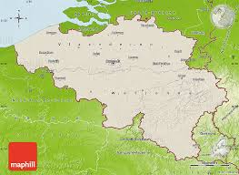 physical map of belgium shaded relief map of belgium physical outside