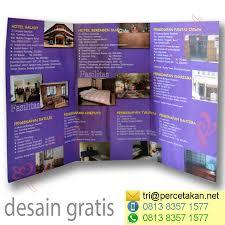 contoh desain brosur hotel cetak brosur lipat 3 cv duta pariwara