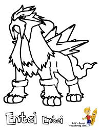 pokemon coloring pages entei learn language me