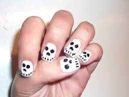 halloween skull nails so easy and cute polish me please