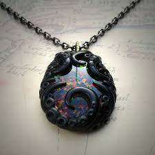 black opal necklace images Tentacled faux black opal necklace cthulhu jewellery jpg