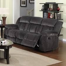 Best Reclining Leather Sofa by Sunset Trading Madison Reclining Sofa Charcoal Blue Gray