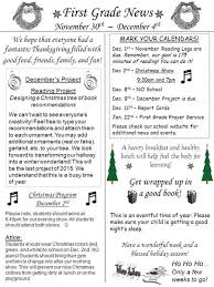 grade newsletter november 16th 20th 2015 mrs mccarthy and