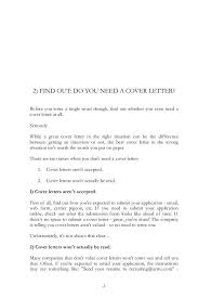 need a cover letter doc 1024994 do i need a cover letter with my