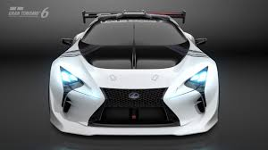 widebody lexus lfa lexus lf lc gt vision gran turismo makes unexpected debut