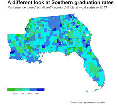 Southern Florida Map by What U0027s Behind The Deep South U0027s Low High Graduation Rates