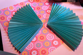 how to make a fan out of paper paper fan birthday decor think crafts by createforless