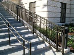 stairs amazing exterior stair handrail 17 beste ideen over deck