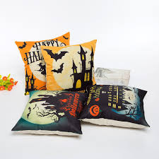 halloween pillows amazon com hosl pw01 4 pack happy halloween square decorative