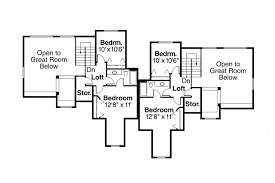 Duplex Plan by Country House Plans Kirkwood 60 013 Associated Designs