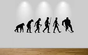 Bedroom Wall Stickers Uk Ice Hockey Evolution Wall Sticker Decal Bedroom Wall Hockey
