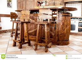 wooden bar chair in country style stock images image 34531904