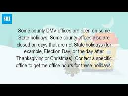 dc motor vehicles inspection hours motor vehicles