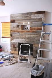 diy reclaimed wood fireplace reclaimed wood fireplace wood