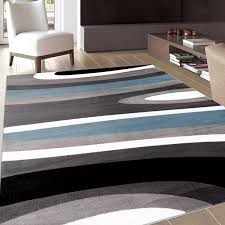 Area Rugs Modern Contemporary Amazonsmile Abstract Contemporary Modern Blue Area Rug 5 3 X 7