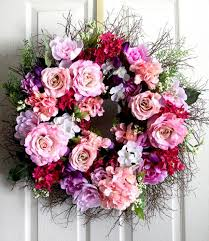 extra large peony and roses spring wreath for front door small