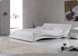 bedrooms king size bed cosmo white faux leather king size bed