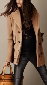 burberry boxfit pea coat in brown lyst