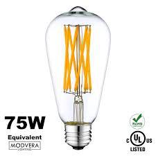 4 pack modvera 75w equivalent led edison bulb 8 watt st64 x