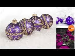 miniature ornaments purple ornaments