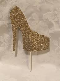 high cake topper glitter high heel shoe cake topper so many color choices