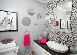 bathroom wall decor ideas simple black white wall mural photo