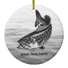 largemouth bass ornaments keepsake ornaments zazzle
