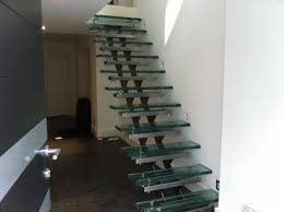 interior design exquisite glass foot step ladders with iron base