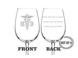 cocktail glass set 2 medical doctor etched wine glasses set of 2 engraved wine