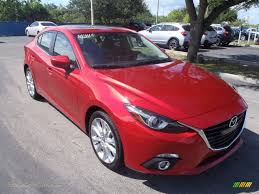 mazda 4 door cars 2014 mazda mazda3 s grand touring 4 door in soul red metallic