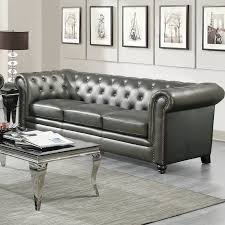 cheap chesterfield sofa darby home co vanallen leather chesterfield sofa reviews wayfair