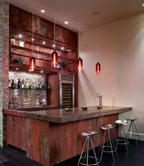 Modern Home Bars by Basement Bars For Basements Designs With Beautiful Brown Wood Bar